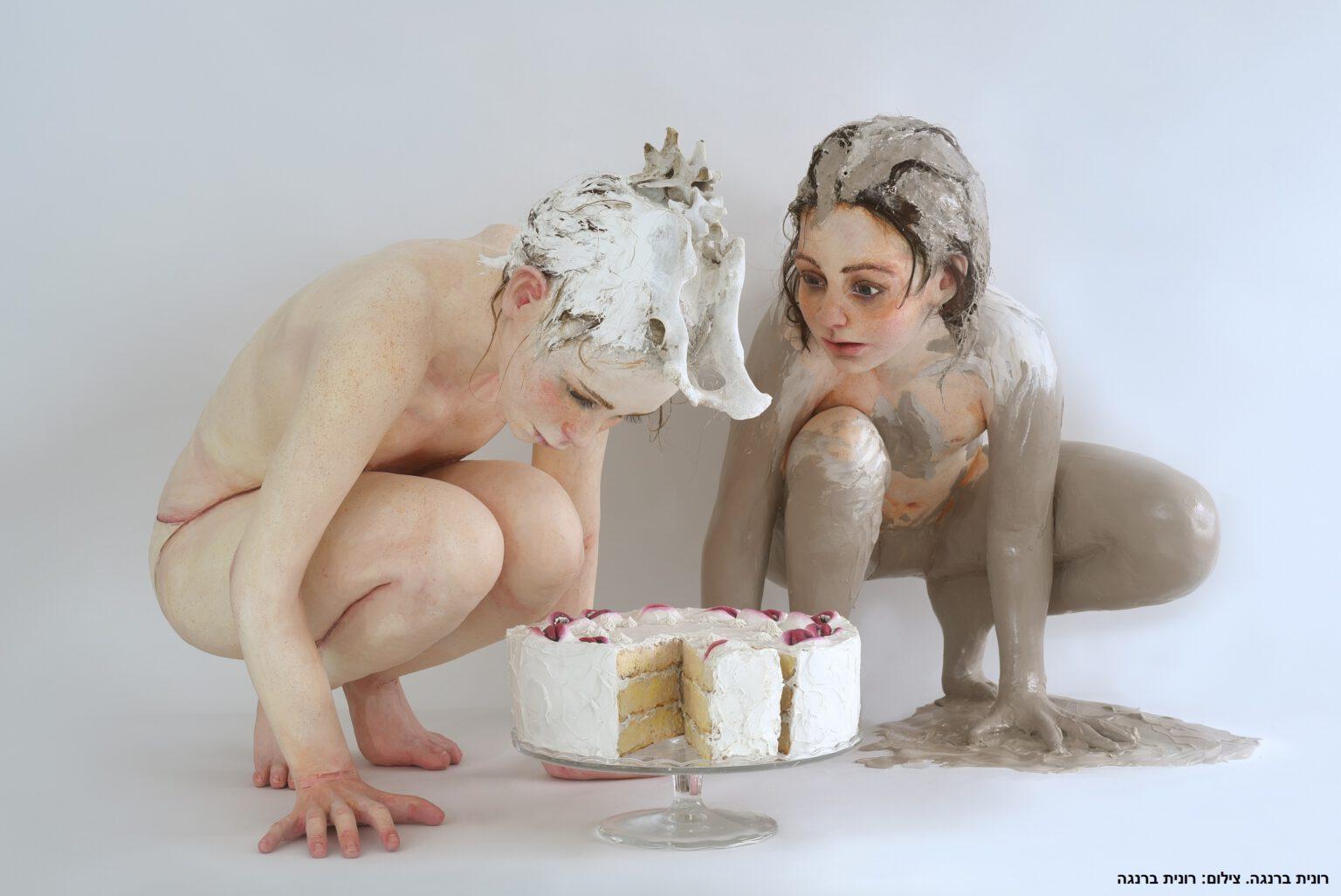 """העוגה רונית ברנגה צילום: הדר סייפן  הביאנלה לאומנויות ולעיצוב מוז""""א, מוזיאון ארץ-ישראל, תל-אביב"""